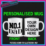 NUMBER 1 NO.1 DAD NOVELTY COFFEE MUG GIFT
